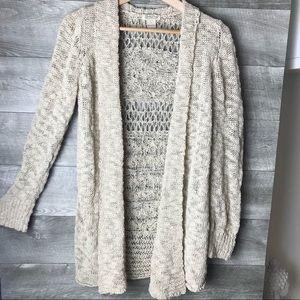 Lucky Brand knit crochet long sleeve cardigan